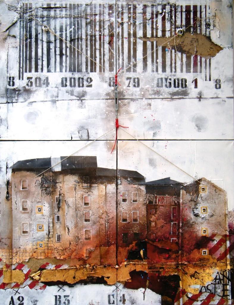 Barcode, 2012, cm.140x100