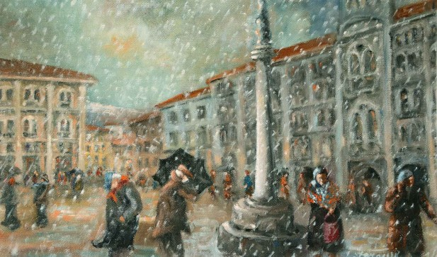 1 Neve in piazza Unità