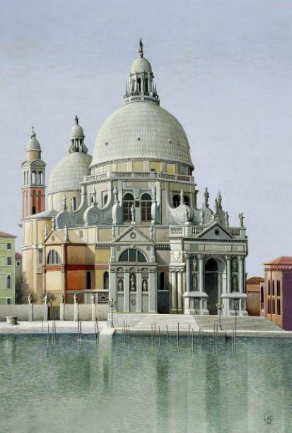 Giovanni Duiz - La Salute, olio su tavola (80x65 cm)