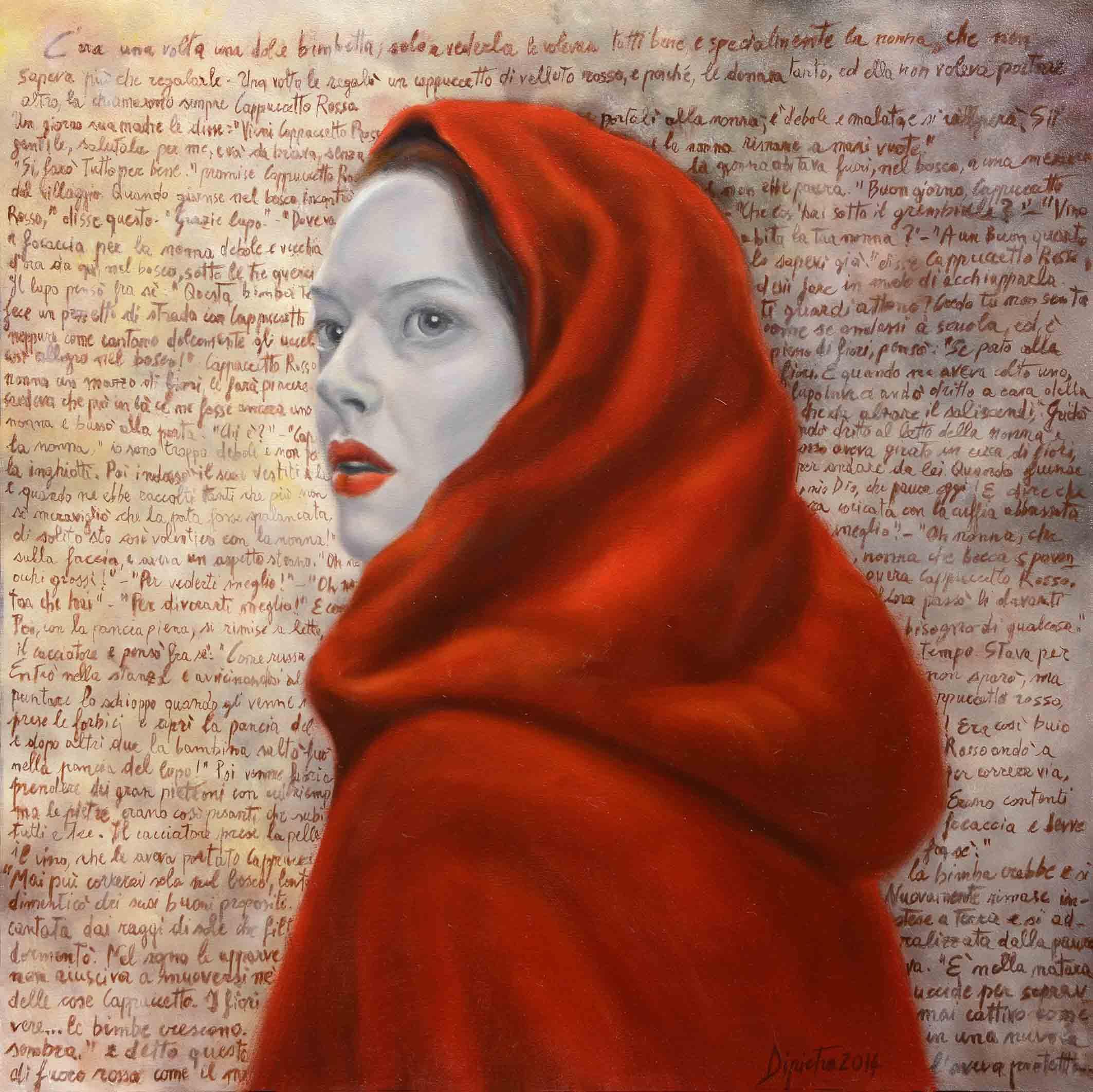 Cappuccetto Rosso, 2014 - olio su tela (cm 50x50)