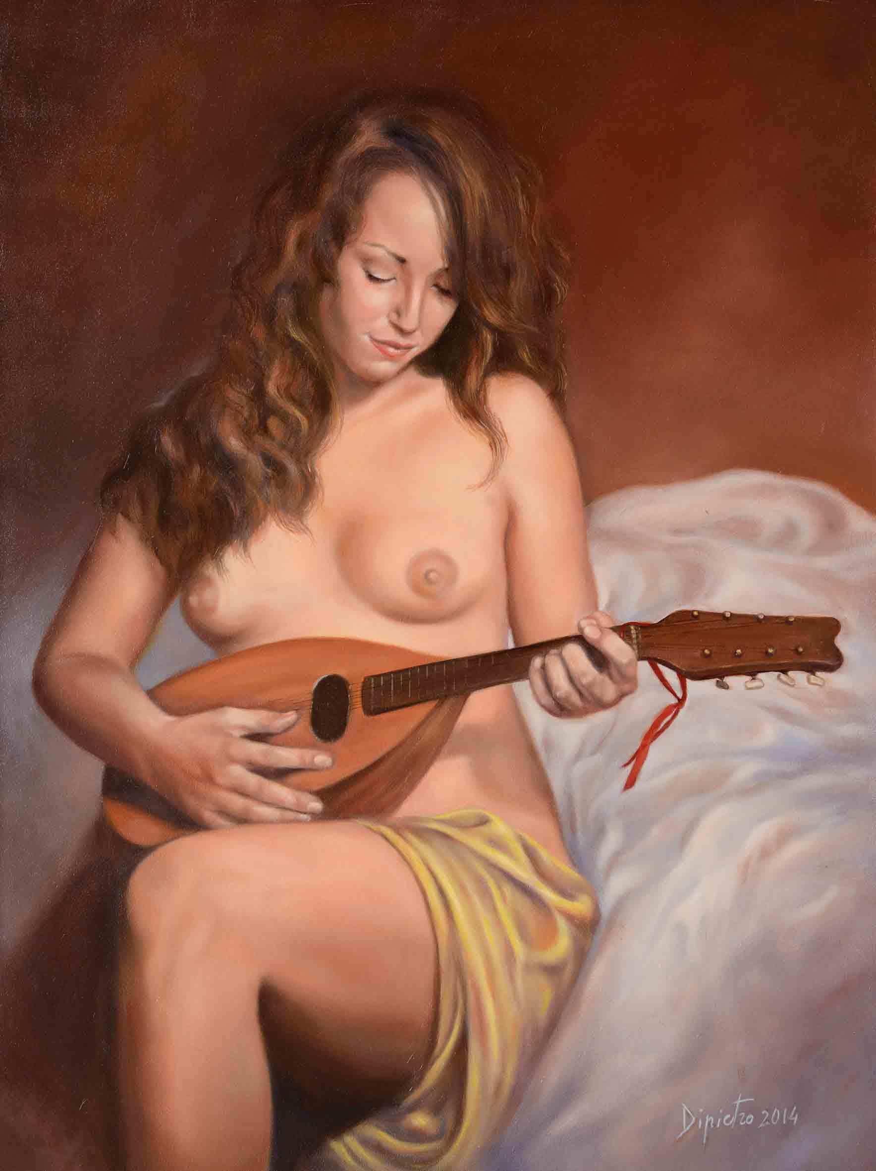 7  Nudo con mandolino 70x53