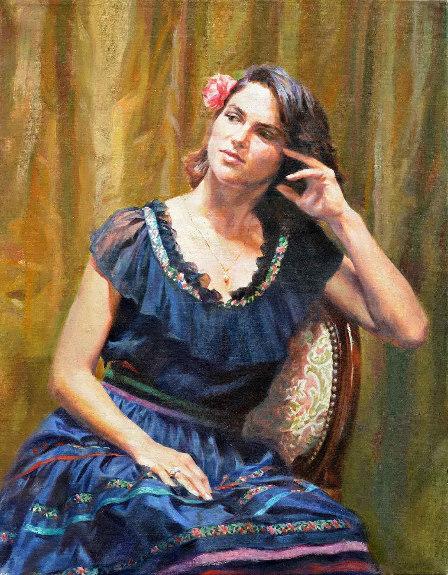 2  Ritratto di Barbara tela 90x70