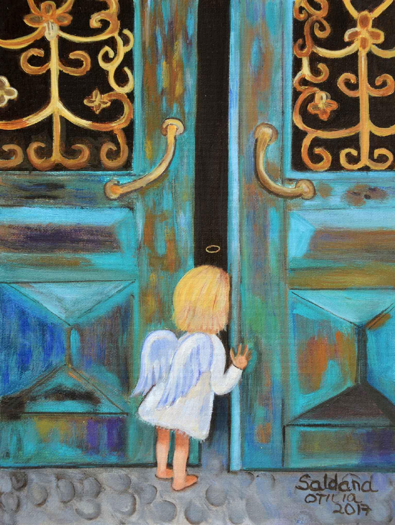 10 Angelo alla porta - olio 24x18