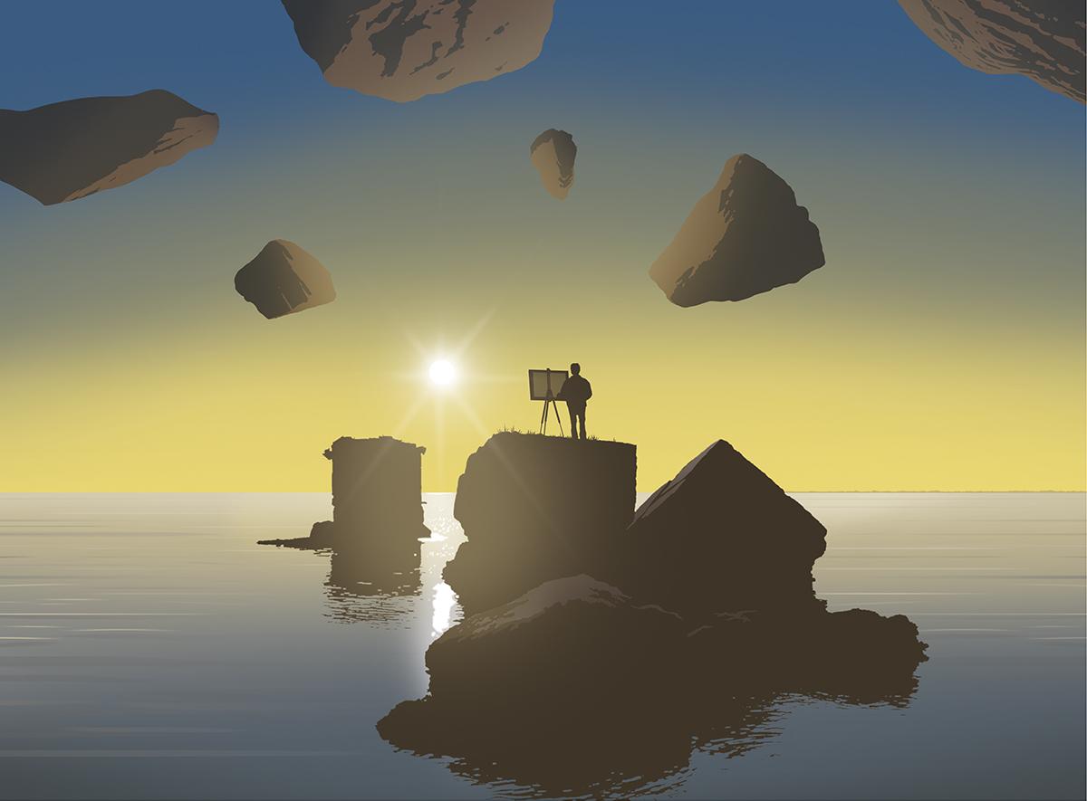 Paolo Pascutto, Atlante delle isole perdute, pittura digitale (2018)