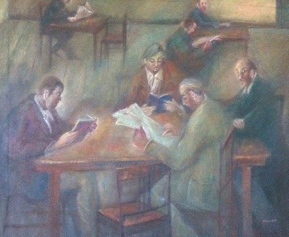 Sala di lettura cm.100 x 120 ( 2011)