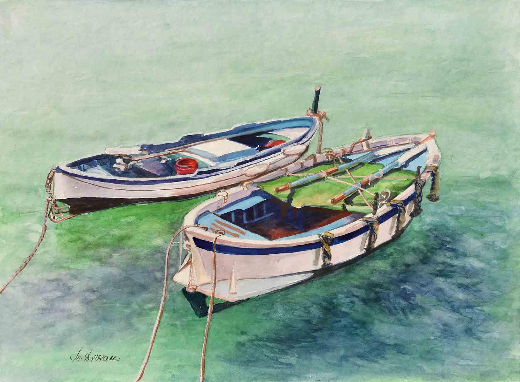 Due barche - acquerello cm 30x40