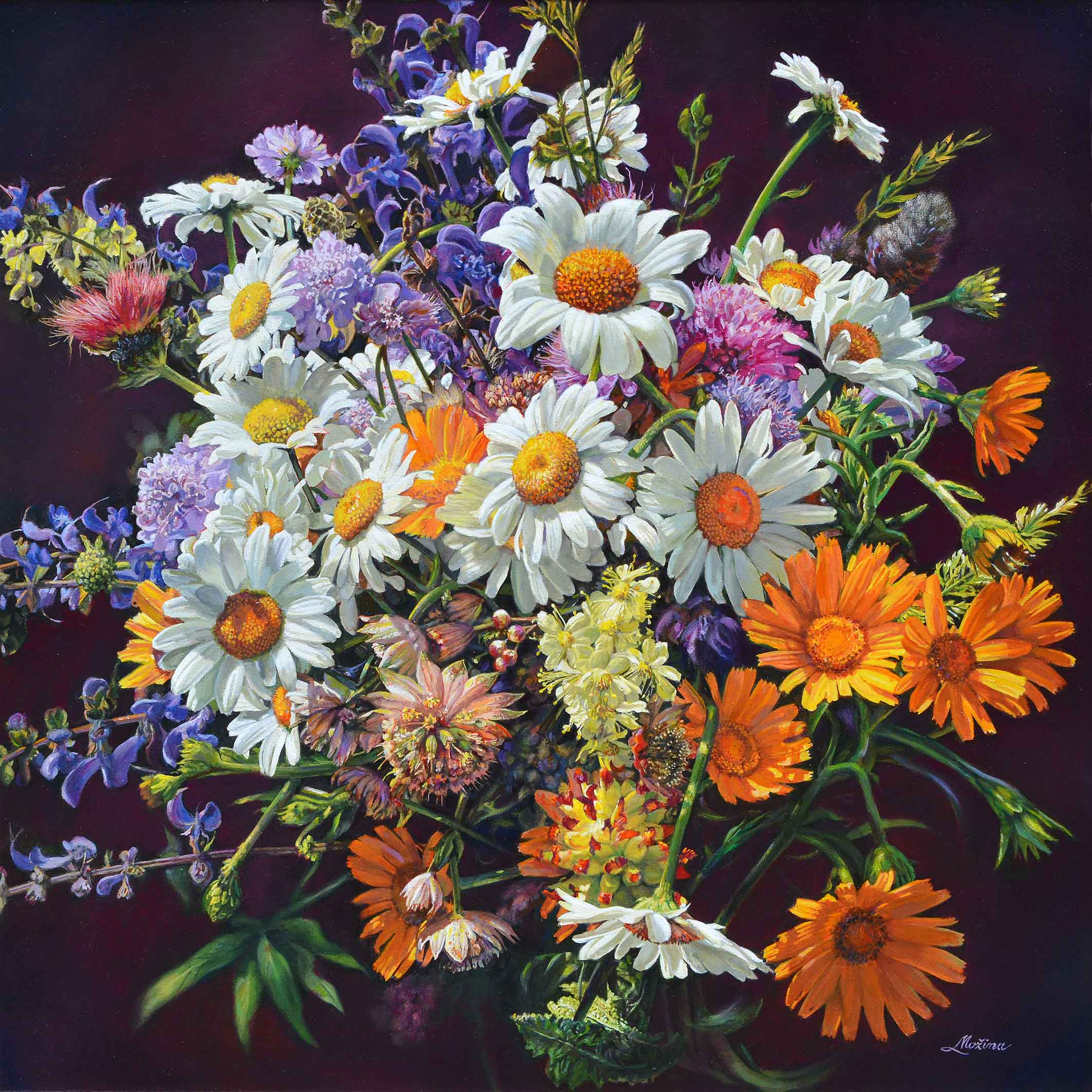 Mazzo di fiori - 50x50 cm