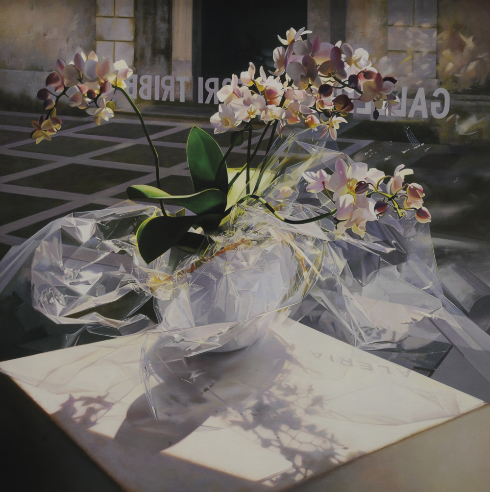 Pavel Florjančič - Alla mostra di Livio, olio su tela, cm 70x70