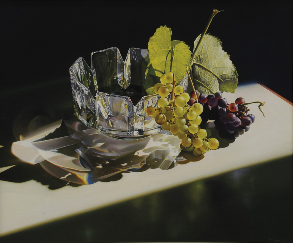 Pavel Florjančič - Vaso svedese, olio su tela, cm 50x60