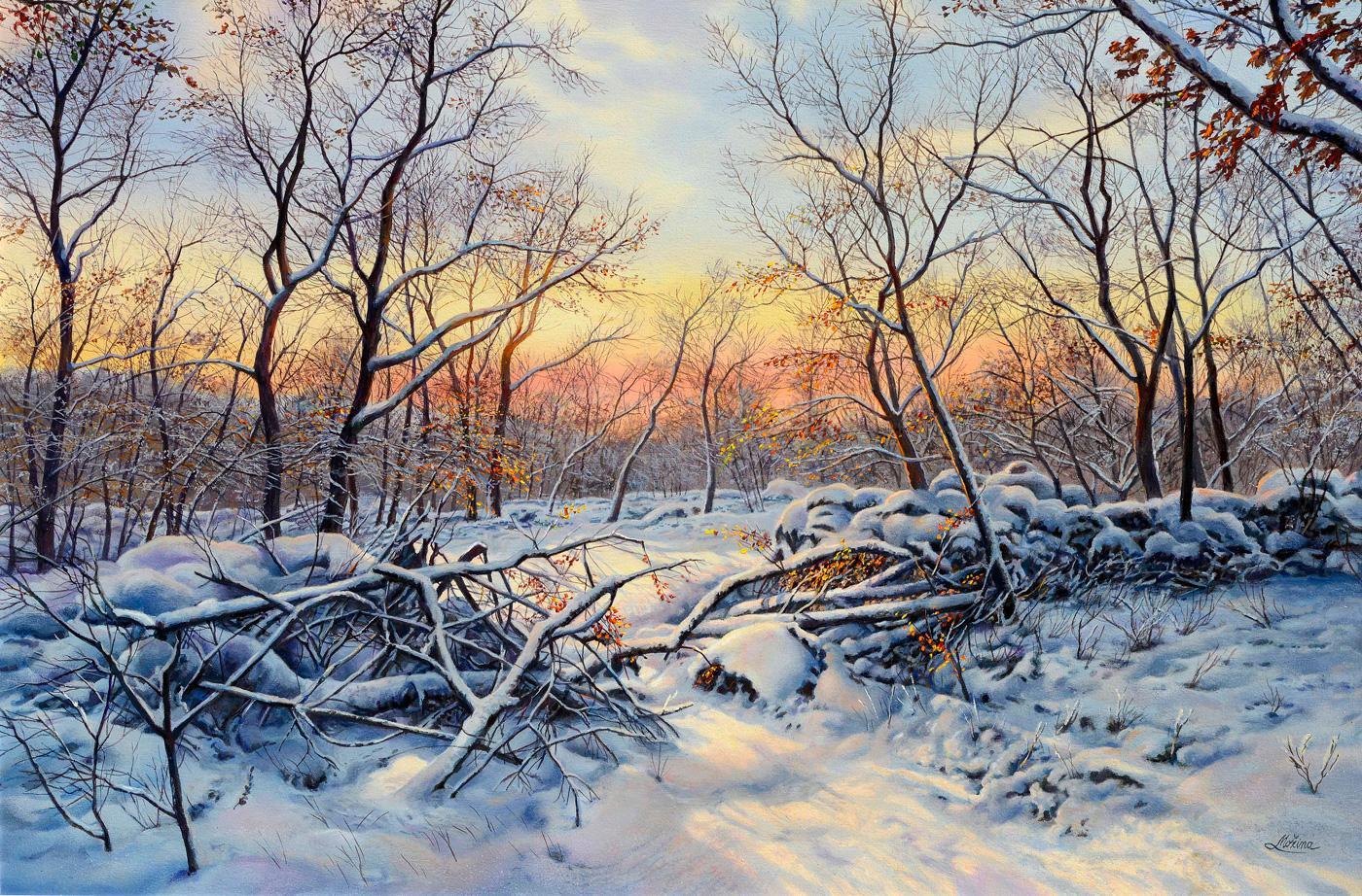 Livio-Mozina - Tramonto con neve