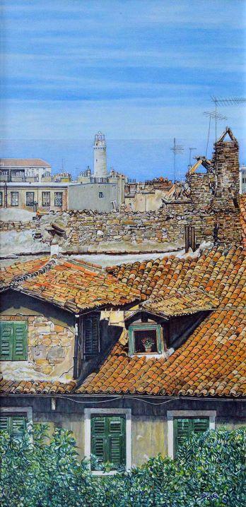 Trieste, tetti e lanterna
